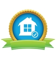 House with tick mark icon vector