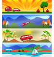 Camping and caravaning vector