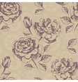 Seamless floral pattern with roses vector