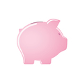 Pink piggy bank isolated on white background vector