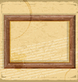 Vintage card with wooden frames in grunge style vector