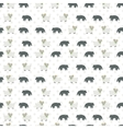 Sheep and wolf pattern vector