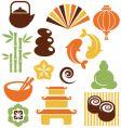Zen icons vector