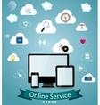 Online service concept vector