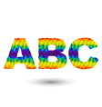 Triangular letters abc vector