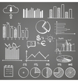 Business finance doodle hand drawn elements with vector