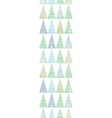 Abstract christmas trees forest in snow vertical vector