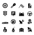 Silhouette car and transportation icons vector