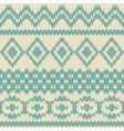 Knitted seamless pattern in ethnic style vector