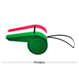 A red white and green whistle of hungary vector