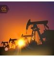 Oil pumps vector