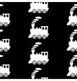 Locomotive symbol seamless pattern vector