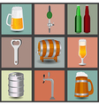 Set icons beer equipment for creating your own vector
