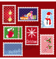 Christmas stamp postage vector