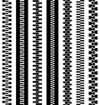 Seamless zipper black symbols vector