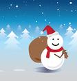 Santa snowman vector