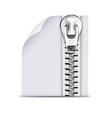 Zip file icon vector