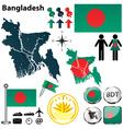 Map of bangladesh vector
