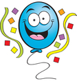 Cartoon happy balloon vector