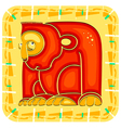 Year of the monkey chinese horoscope animal sign vector