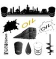 Set oil industry facilities vector