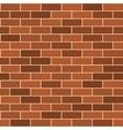 Seamless pattern of red brick wirh light seam vector