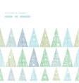 Abstract christmas trees forest in snow horizontal vector