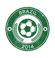Grunge soccer brazil emblem vector