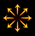 Fire arrows vector