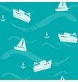 Seamless pattern with ships and waves vector