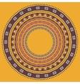 Set of round geometrical frames circle border vector