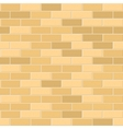 Seamless pattern of yellow brick with light seam vector