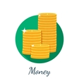 Flat coin icon vector
