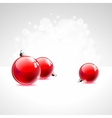 Holiday with red christmas balls vector