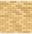 Seamless pattern of yellow brick with dark seam vector
