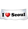 I love seoul vector