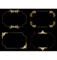 Gold frames with arabic elements - set vector