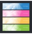 Set colorful polygonal banners vector