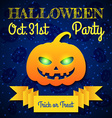 Halloween party card template vector