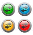 Arrow icon set on glass buttons vector