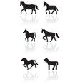 Horse or pony symbol set vector