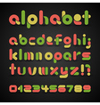 Colorful decorative alphabet vector