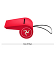 A whistle of the isle of man vector