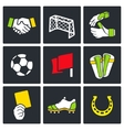 Soccer color icon collection vector