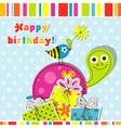 Scrapbook birthday greeting card vector