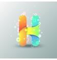 Modern capital letter h vector