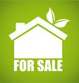 Eco house design vector