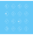 Collection of flat bubbles icons vector