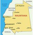 Islamic republic of mauritania - map vector