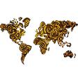 Abstract world map design vector